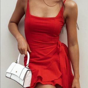 Princess Polly Love Lane Mini Dress Red Ruffle 2